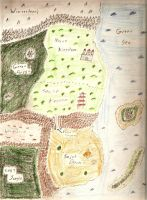 Old Map Of Ximuria by B-JacobDawson