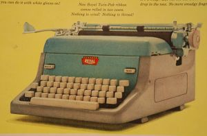 Royal typewriter stock by fahrmboy-stock