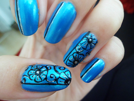 Flower Nail Art by xRixt