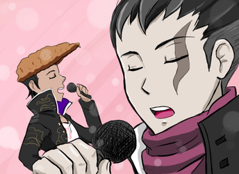 Gundam and Oowada sing ponponpon 1 by CaptainMika