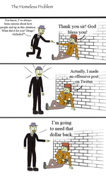 The Homeless Problem (Comic) by CrackerHumps