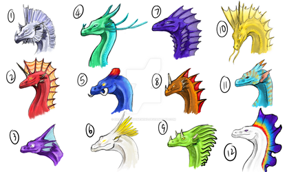 $2 Dragon Adopt-Crest Designs [OPEN] by dragonofdivinewind