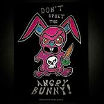 Dont Upset the Angry Bunny! (Tshirt design) by BrianABernhard