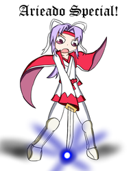 Schezo from Puyo Puyo but it's Meira from Touhou by exfodes