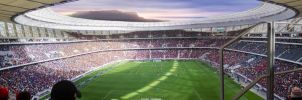 Cape Town Stadium Panoramic by Justinlite
