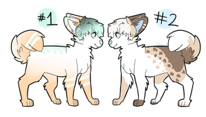 two dog adopts! closed! by Official-Fallblossom