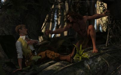Tarzan and Jonah by galidor