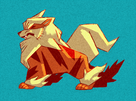 Arcanine by The-Color-Blue
