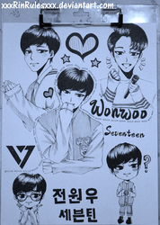 Rinspirit Art 18 8 Wonwoo Sketch Page By