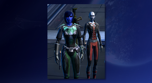 SWTOR Chiss Agent Sev'rence and Kaliyo 1980x1080wp by skylinegtr01