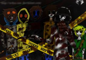 Creepypasta Gang #2 by Erika-san