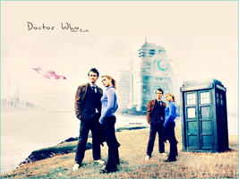 doctor who and rose by eyesofacat