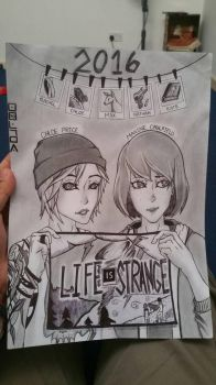 Life Is Strange - Max and Chloe (2016) Redraw by FireWeaver360