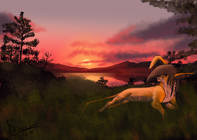 In the Sunset Valley by Xsyl