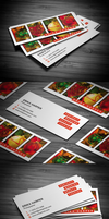 Slim Photography Business Card by FlowPixel