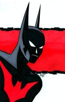 Batman Beyond Headshot by RichBernatovech