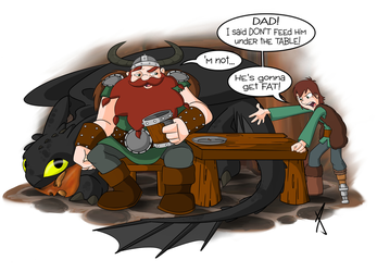 How NOT to Train Your Dragon by LittleTiger488