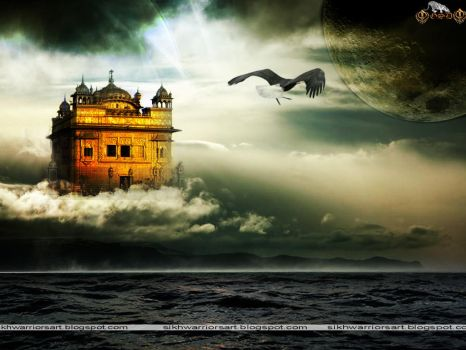Golden Temple (Harmandir Sahib) in Sky by freehqwallpapers