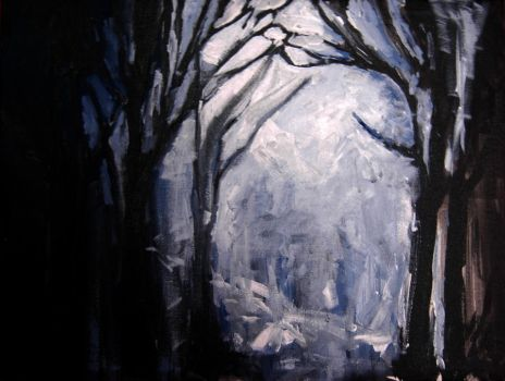 cold forest by kiyaaa