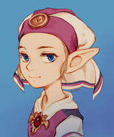 Young Zelda by lulles