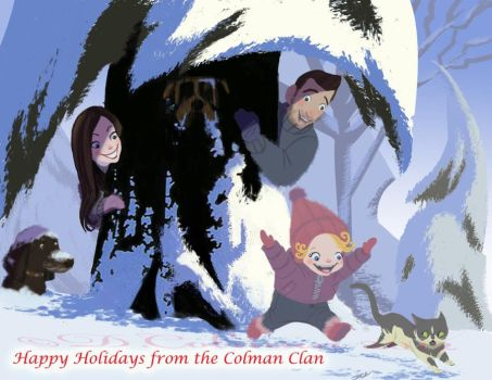 Happy Holidays from the Colmans by davidsdoodles