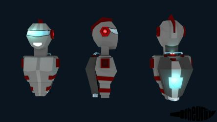 Robot Boy - Low Poly by WFpeonix