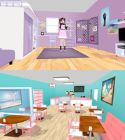 yura's room + cafe by AkemiWhy