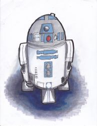 R2 D2 now in colour 2018 by Poorartman