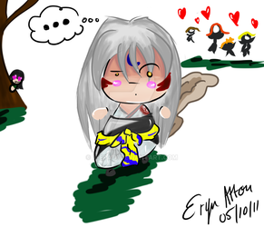 Sesshomaru Senses Danger by x-eRa-x