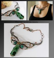 Nairne- wire wrapped copper necklace by mea00