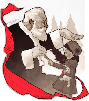 Nina and the Santa by Sethard