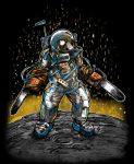 Texas Chainsaw Astronaut by nickv47