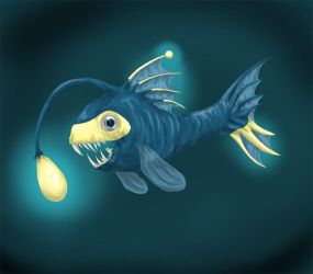 a delicate fish by Endivinity