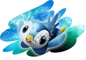 Piplup and background