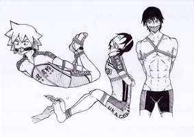 Yowamushi Pedal GIDs by Rose-Bound