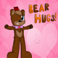Freddy Fazbear Valentines Card by cjc728