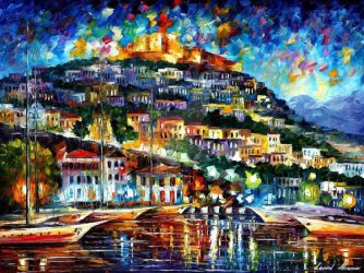 Greece - Lesbos Island 2 by Leonid Afremov by Leonidafremov