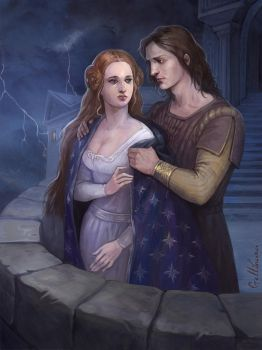 Eowyn and Faramir by Julaxart