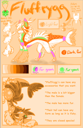 Fluffrygg-species features guide by lalacat2000