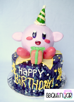 Kirby cake by sequinjar