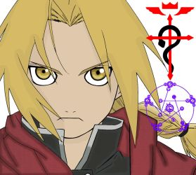 Edward Elric Line Art Coloring 2 by MNSVocaloid