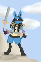 Kenny the Lucario by TheGreatWarrior