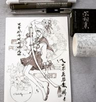 Sample-Sketch and washitape decoration by Cei-Killy