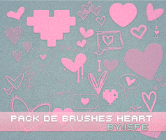 Brushes Heart By isfe by Isfe