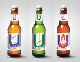 Typographic Lager - Univers (Bottle Mock-Ups) by AnimeVeteran