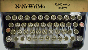 NaNoWriMo Calendar Wallpaper by moonfreak