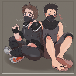 [COMMISSION+SPEEDPAINT] Two Cutie Ninjas by BabyMallows