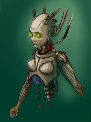 Damaged Android - daily doodle by gerrd