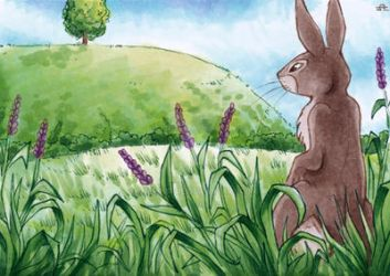 The Hill - Watership Down - ATC by Merinid-DE