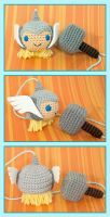 COMMISH - Thor+Mjolnir Dangler by queenofthecrows